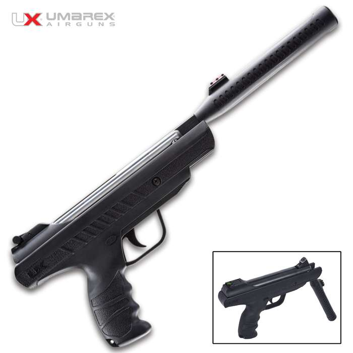 Nothing beats the speed and simplicity of the Umarex Trevox Break-Barrel Air Pistol, which is larger than most pellet pistols but can still be fired one-handed