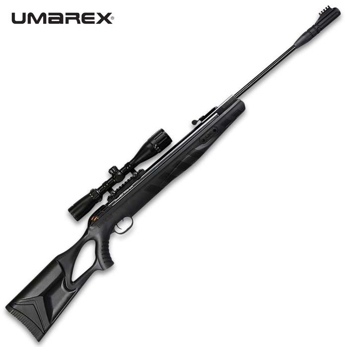 Umarex Octane Elite .177 Air Rifle - Rifled Steel Break-Barrel, All-Weather Synthetic Stock, Gas Piston Powered, 3-9x40 AO Scope Included