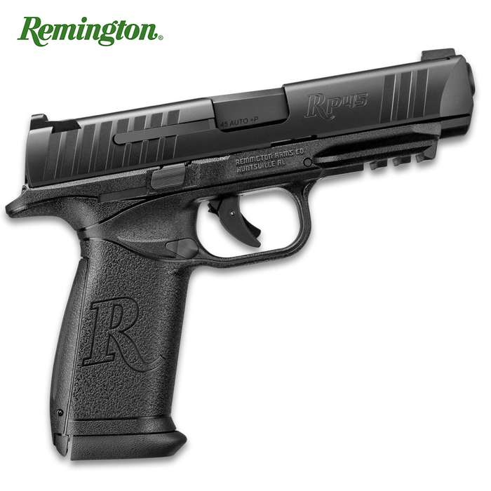 The Crosman Remington RP45 Air Pistol is an exact replica of Remington's new RP45 pistol