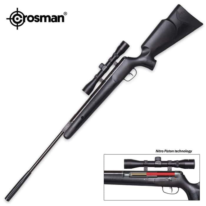Prowler Black Nitro Piston Powered Air Rifle - 4x32 Scope