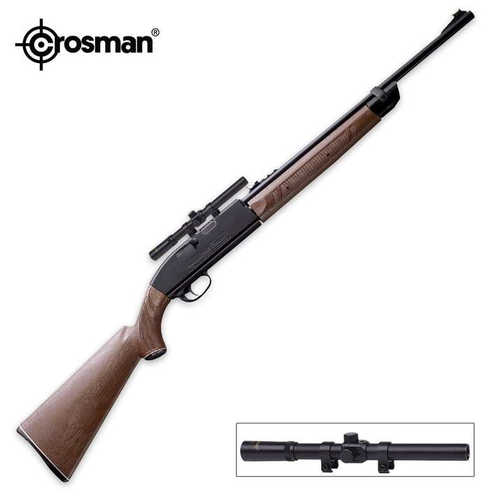 2100 Classic Single Pump Air Rifle With 4x15 Scope - Brown And Black