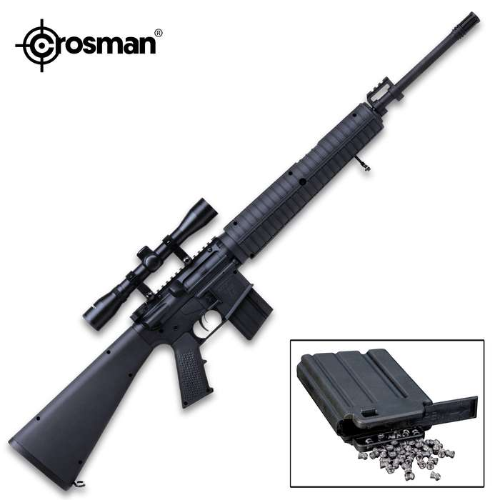 With the Crosman Classic A4 Modern Sporting Air Rifle you get the full power of Crosman's patented Nitro Piston technology, modeled after one of the most popular tactical rifles in the world