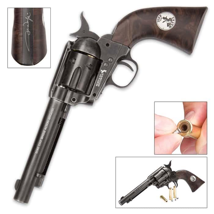 "John Wayne ""The Duke"" Colt CO2 Pellet Weathered Revolver"