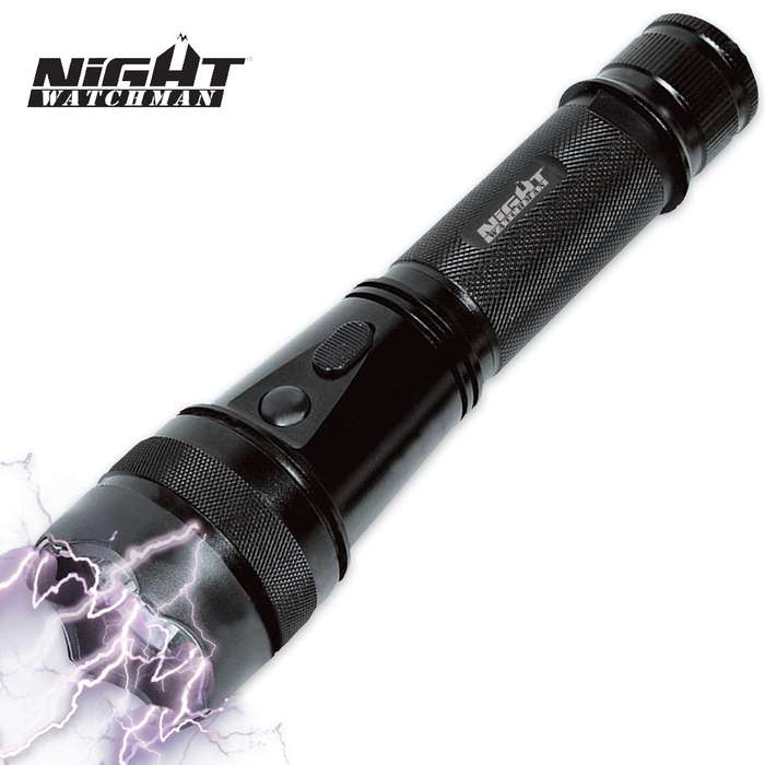 Night Watchman 2 Million-Volt Black Stun Gun / CREE LED Flashlight
