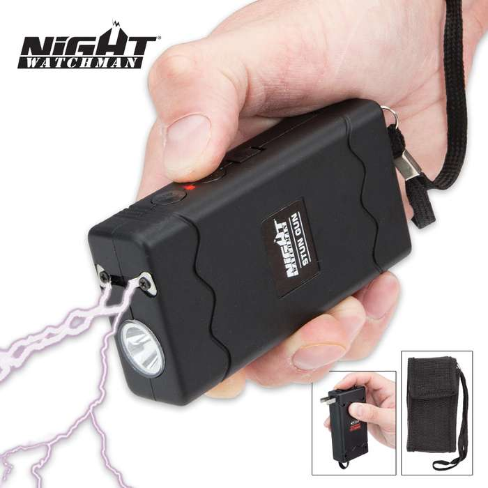 Night Watchman 1 Million-Volt Stun Gun with Built-In LED Flashlight