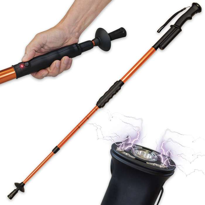 Hike N Strike Hiking Staff Stun Gun Flashlight Walking Cane