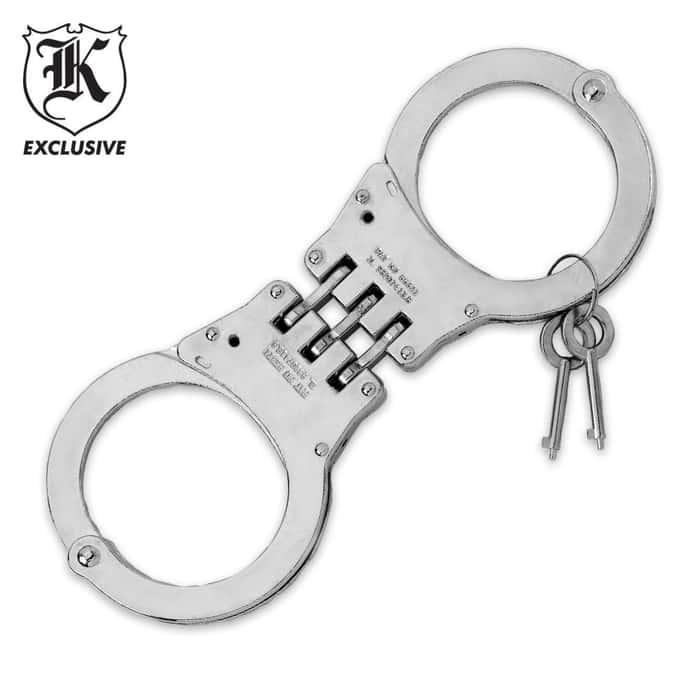 Law Enforcement Grade Hinged Steel Handcuffs