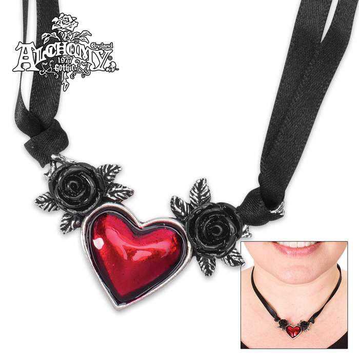 Blood Heart Necklace