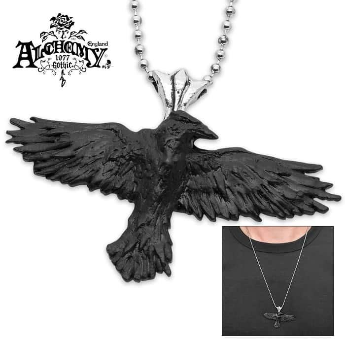 """Nevermore"" Black Raven Necklace"