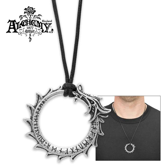 Pewter Jomungand Necklace - Ouroboros