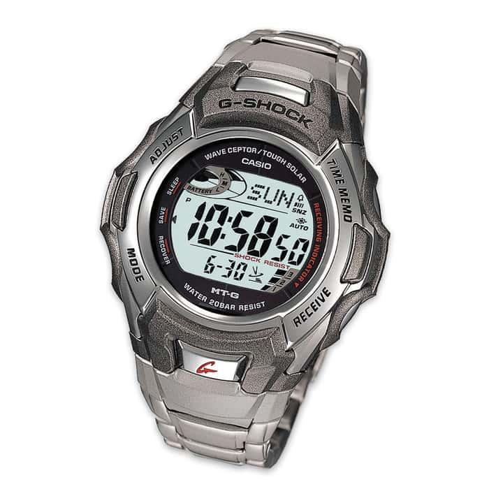 Casio G-Shock Watch W/Stainless Steel Band