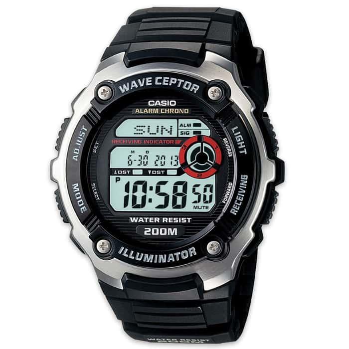 Casio Wave Ceptor Atomic Sport Watch