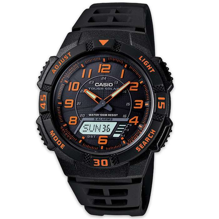 Casio Solar AQS800 Watch Orange
