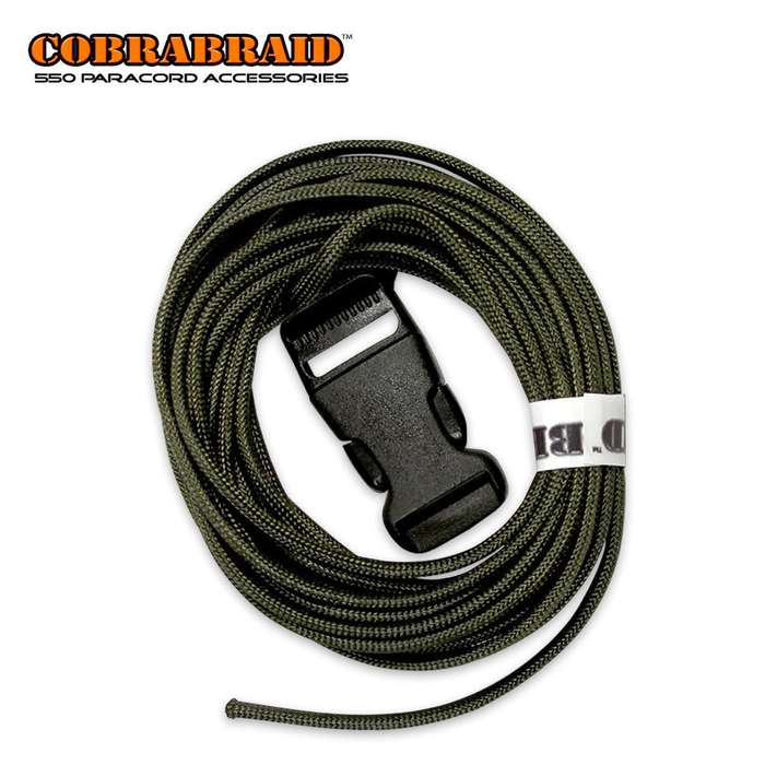 Cobrabraid DIY Kit ODThis COBRABRAID 550 paracord