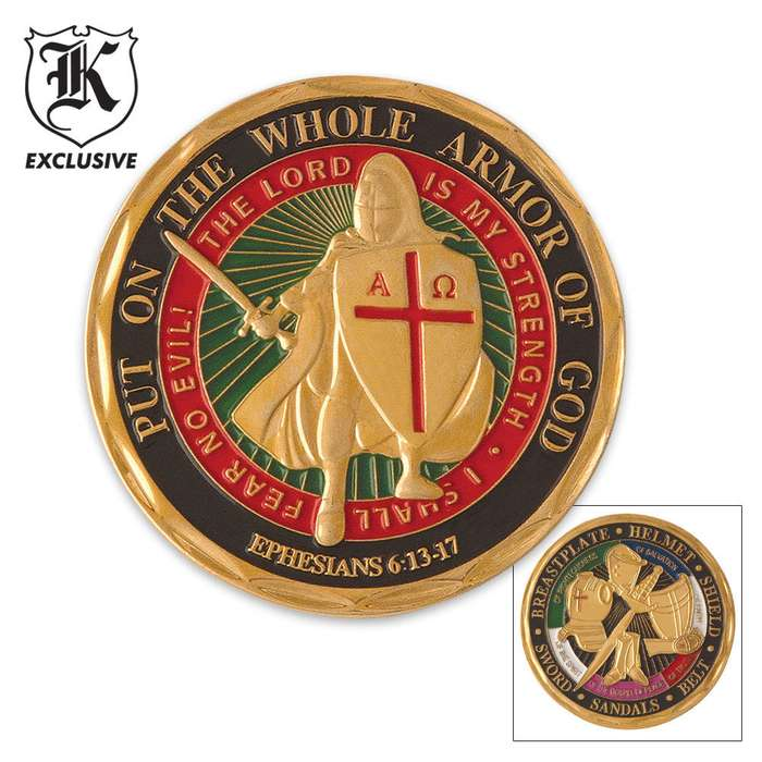 Armor of God Challenge Coin Good Luck Charm