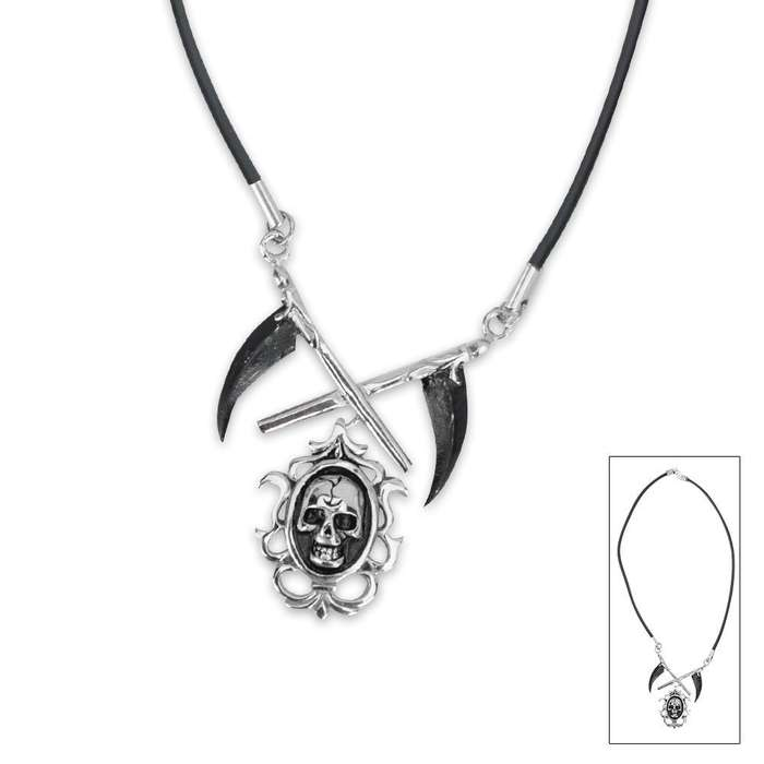 Grim Reaper Cameo Necklace