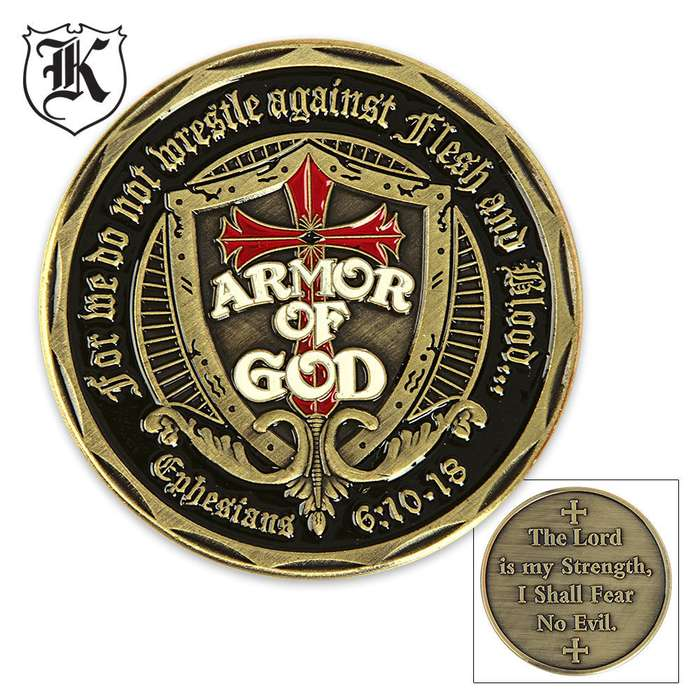 Armor Of God Fear No Evil Challenge Coin