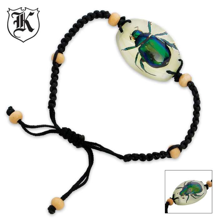Colorful Scarab Beetle Bracelet