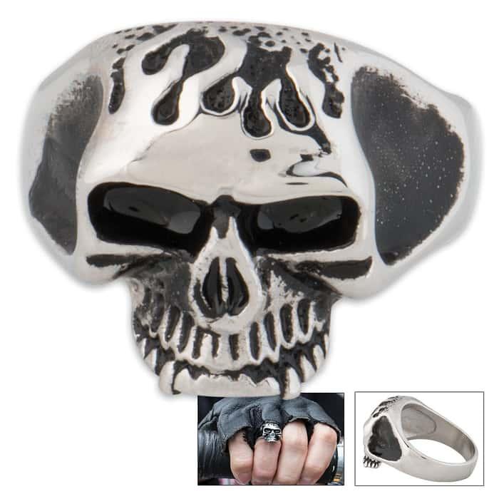 Skull Face Skull Ring