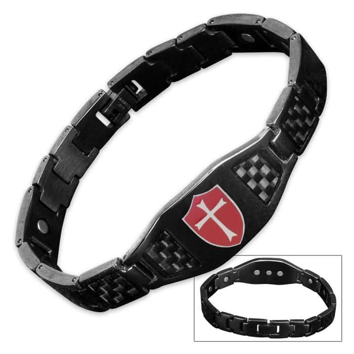 Armor of God Stainless Steel / Carbon Fiber Bracelet