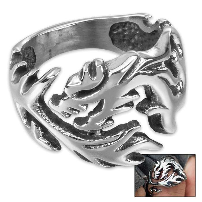 Tsunami - Men's Stainless Steel Ring