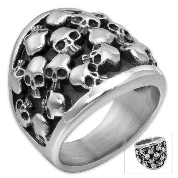 Bag of Bones Stainless Steel Men's Ring