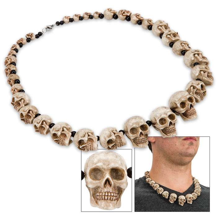 Skulls And Beads Necklace