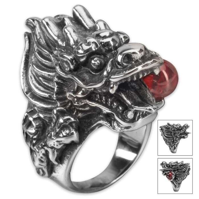 Twisted Roots Blood Stone Dragon Ring