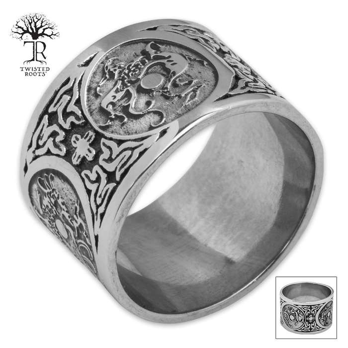 Twisted Roots Dragonseal Stainless Steel Men's Ring