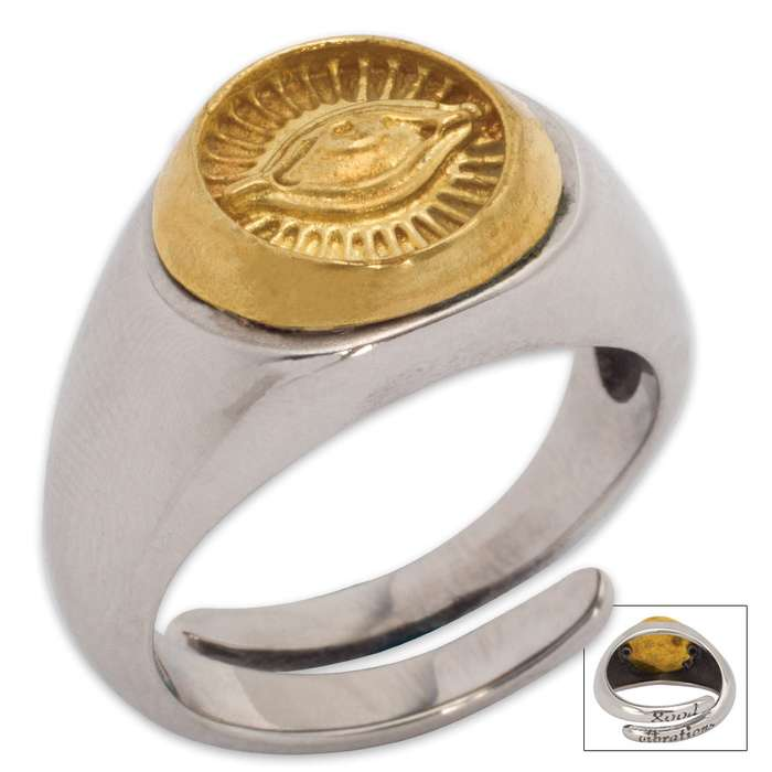 Twisted Roots Mystical Third Eye Ring