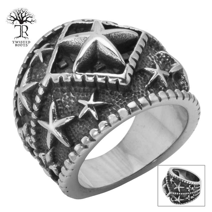 Twisted Roots Starsailor Stainless Steel Men's Ring