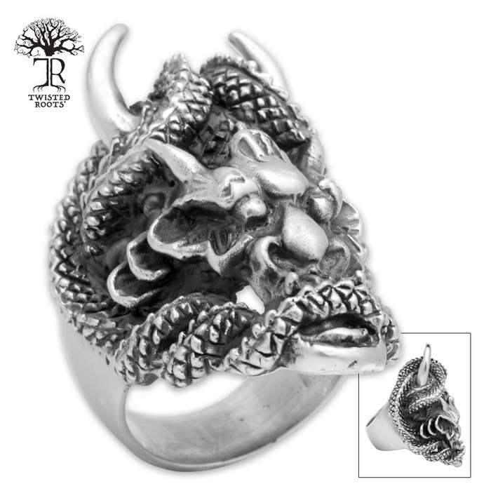 Twisted Roots Chronepsis Dragon Deity Ring