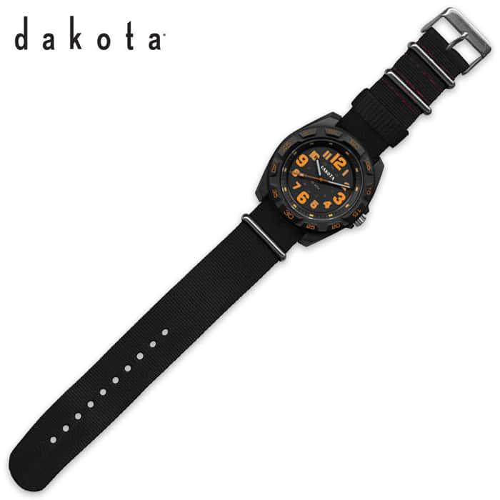 Dakota E.L. Field Sport Watch Black/Orange