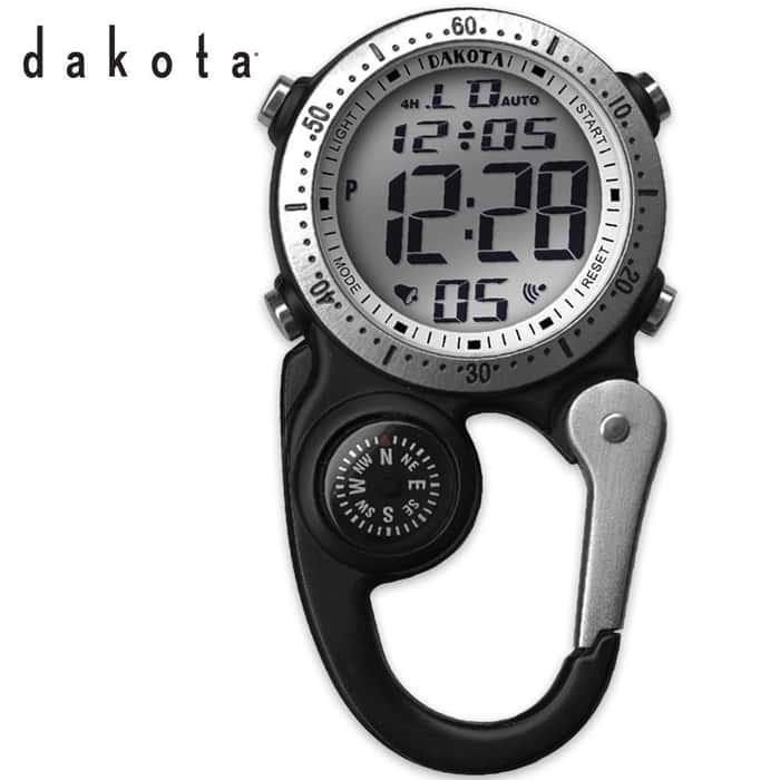 Dakota Digi Clip Watch Black