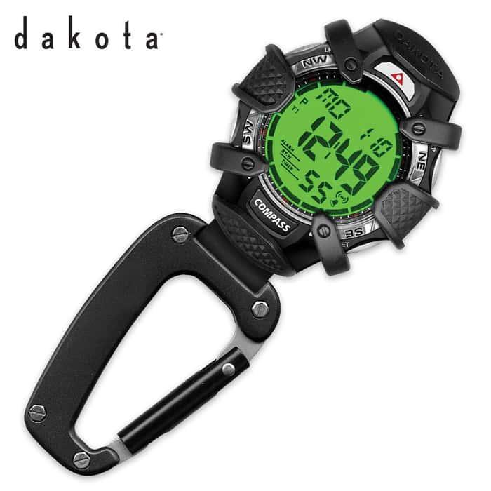 Dakota Tough Digital Clip Watch Carabiner