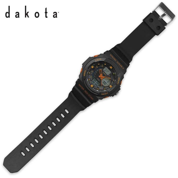 Dakota Tough Ana-Digi Watch Black/Orange