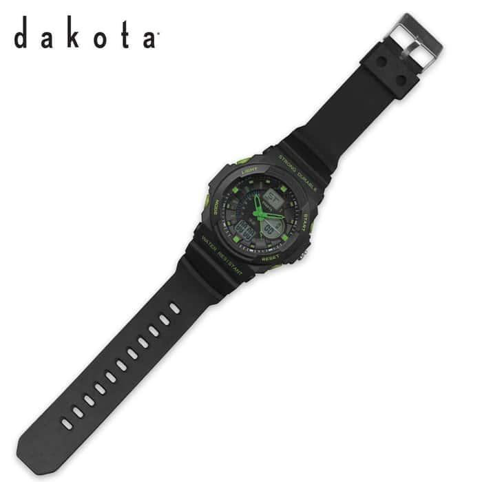 Dakota Tough Ana-Digi Watch Black/Green