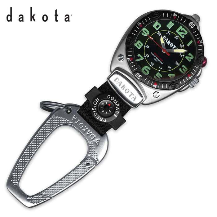 Dakota Big Face Clip Watch Carabiner