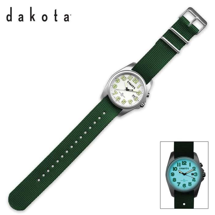 Dakota Light Angler Green & White Sport Watch Rubber Band