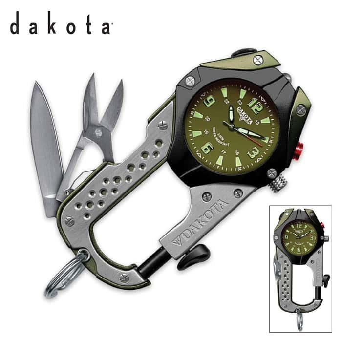 Dakota Knife Clip Watch Olive Green