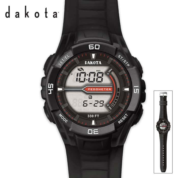 Dakota Pedometer Watch Black