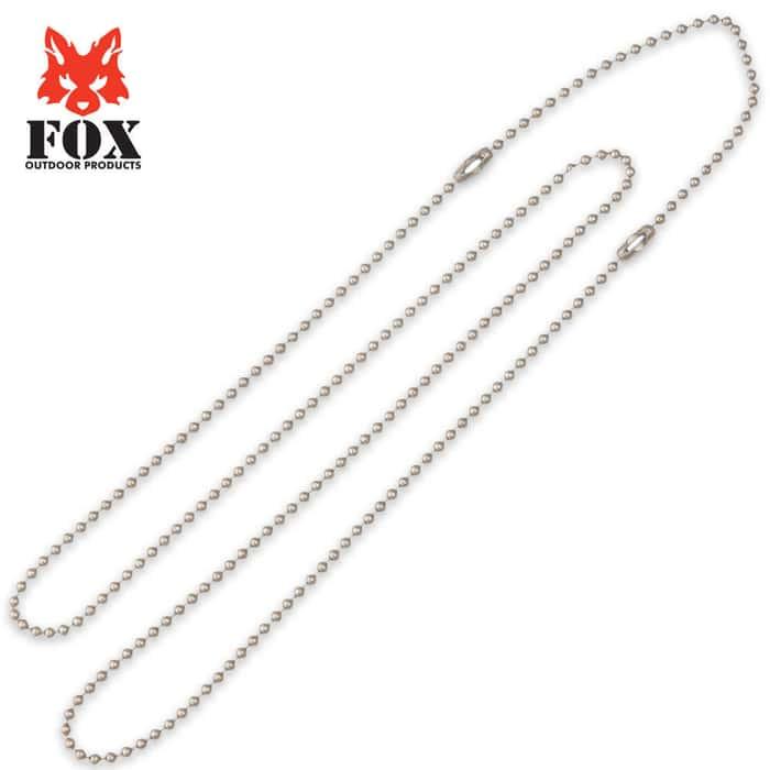 Fox G.I. Dog Tag Chain