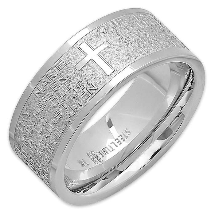 Our Father Stainless Steel Prayer Ring