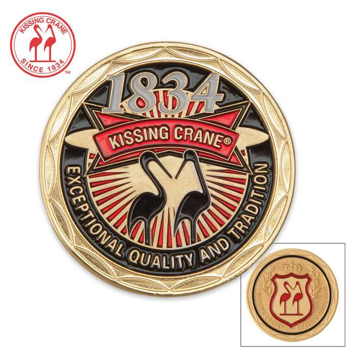Kissing Crane Collectible Challenge Coin