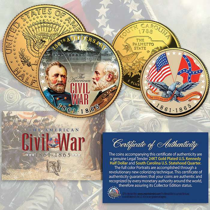 American Civil War 150th Anniversary Coin Set