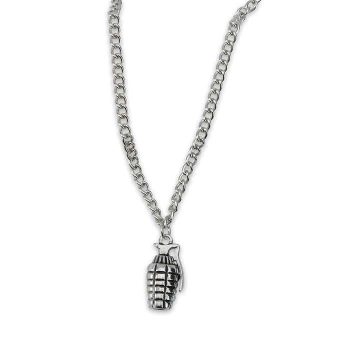 Combat Jewelry Grenade Pendant Necklace