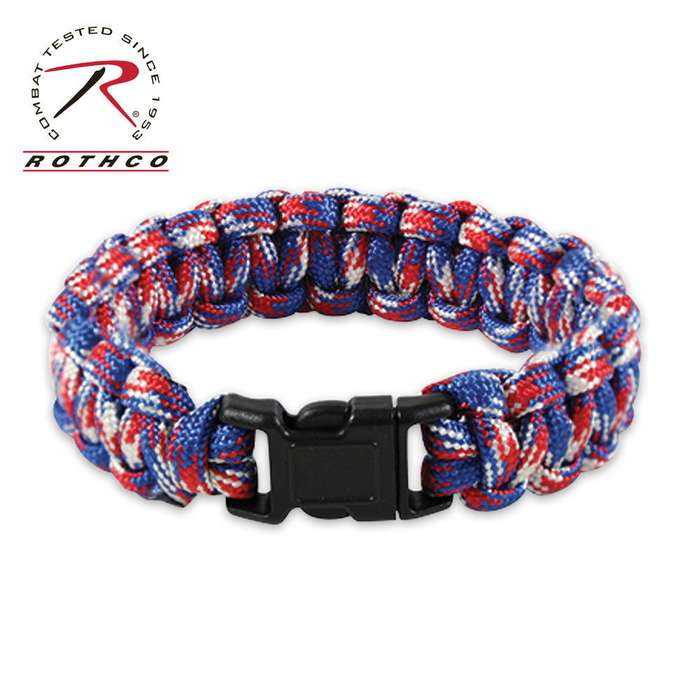 American Red/White/Blue Paracord Bracelet