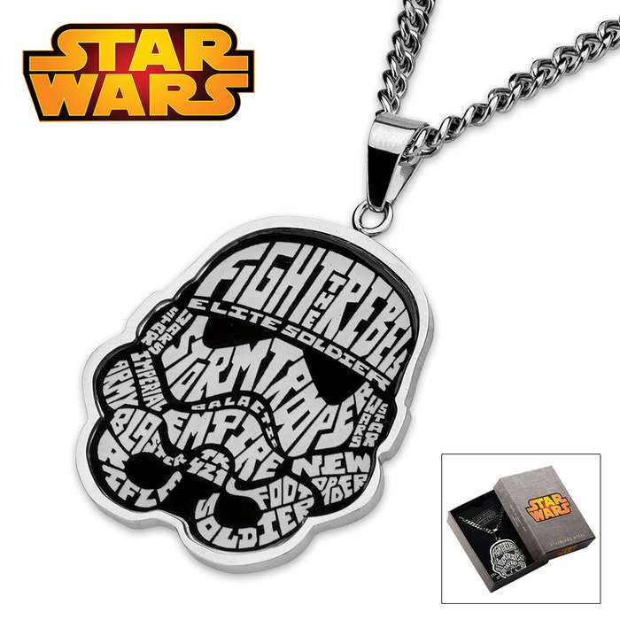 """Star Wars Storm Trooper Necklace 22"""" Chain"""