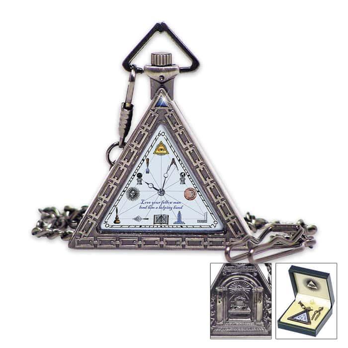 1920s Triangular Masonic Pocket Watch