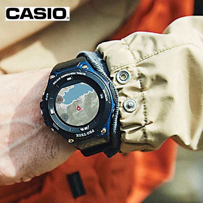 Casio ProTek Smart Watch - Built-In GPS, Full-Color Map, Pressure Sensors, Dual-Layer LCD Display, Wi-Fi Connectivity, Water-Resistant to 50m